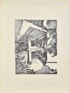 Jan Mroziński (1890-1960), Dworek w Beskidzie z Teki autolitografii Czartaka, 1928