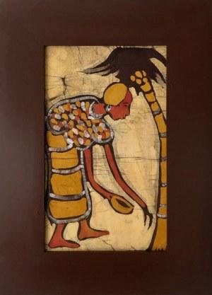 Sainey, Kobieta zbierająca olej palmowy
