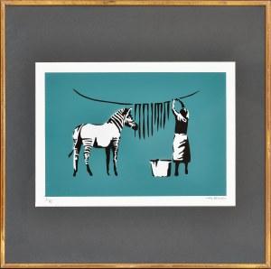 Banksy (Ur.1974), Zebra wash, 2019