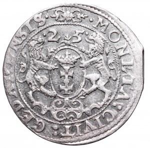 Sigismund III, 18 groschen 1625, Danzig - P