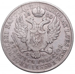 Kingdom of Poland, 5 zloty 1830 KG
