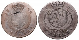 Duchy of Warsaw, Lot 1/3 thaler 1814 and 1/6 thaler 1812