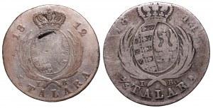 Księstwo Warszawskie, Zestaw 1/3 talara 1814 i 1/6 talara 1812