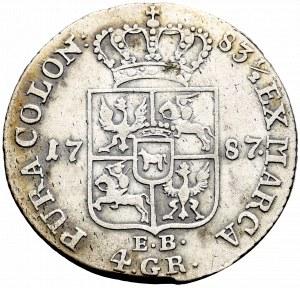 Stanislaus Augustus, 4 groschen 1787