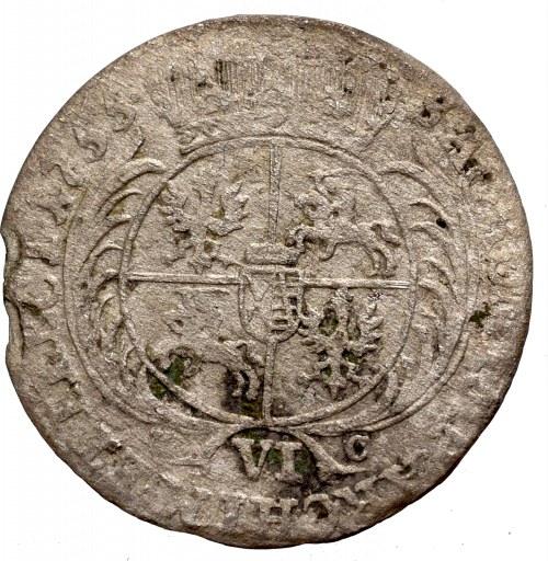 Germany, Saxony, Friedrich August II, 6 groschen 1755, Leizig