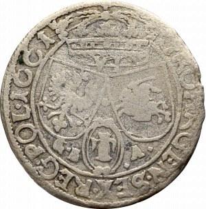Jan II Kazimierz, Szóstak 1661, Lwów - IO CASIM