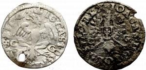 John II Casimir, Lot of 2 groschen 1650-1651, Bromberg