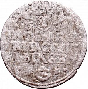 Szwedzka okupacja Elbląga, Gustaw Adolf, Trojak 1631 - kapelusz ELBINGEN