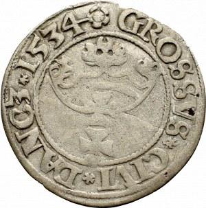 Sigismund I the Old, Groschen 1534, Danzig
