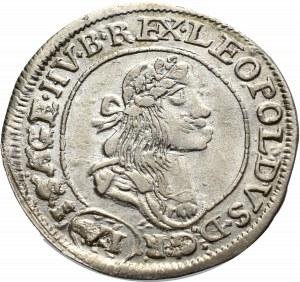 Węgry, Leopold I, 6 krajcarów 1673 KB