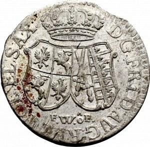 August III Sas, 1/12 taler 1763
