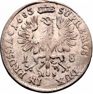 Germany, Brandenburg-Prussia, Friedrich Wilhelm, 18 groschen 1685