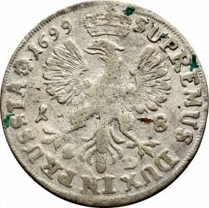 Prussia, Frederick III, 18 groschen 1698, Konigsberg