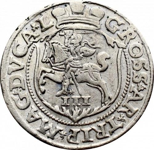 Sigismund II Augustus, 3 groschen 1563, Vilnius