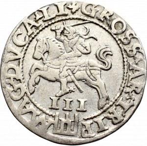 Zygmunt II August, Trojak 1562, Wilno - LI/LI