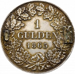 Niemcy, Ludwik II, Gulden 1865, Monachium