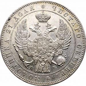 Rosja, Mikołaj I, Rubel 1844 СПБ-КБ, większa korona
