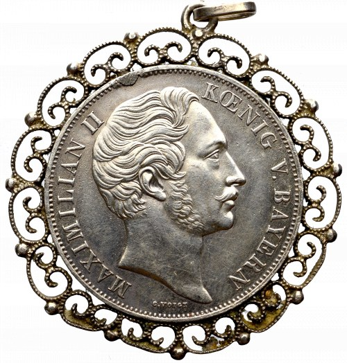 Niemcy, Bawaria, Talar / 2 Guldeny 1855