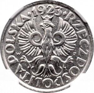 II Rzeczpospolita, 20 groszy 1923 - NGC MS66