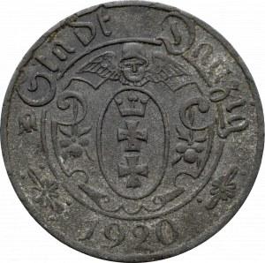 Wolne Miasto Gdańsk, 10 fenigów 1920, 54 perełki