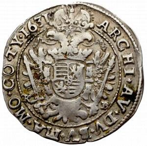 Hungary, Ferdinand II, 1/4 thaler 1631 KB, Kremnitz