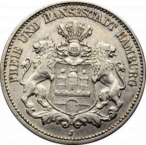 Niemcy, 2 marki 1906 J, Hamburg