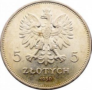II Rzeczpospolita, 5 złotych 1930 Sztandar
