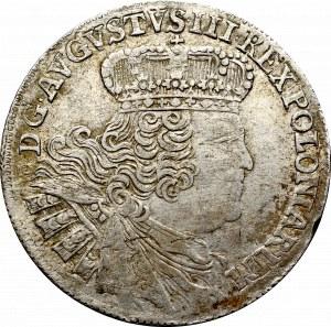 August III Sas, Ort 1755 Efraimek - kropka po dacie