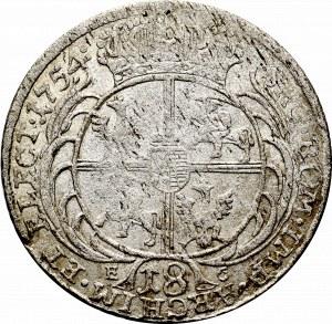 August III Sas, Ort 1754 Efraimek - kropka po dacie