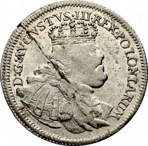 August III Sas, Szóstak 1754 - szerokie popiersie