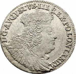 August III Sas, Szóstak 1756 - szerokie popiersie