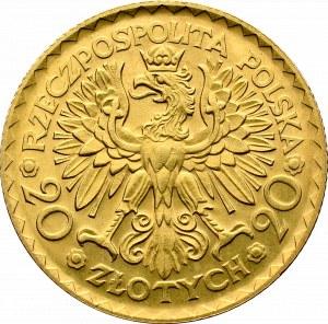 II Rzeczpospolita, 20 złotych 1925 Chrobry