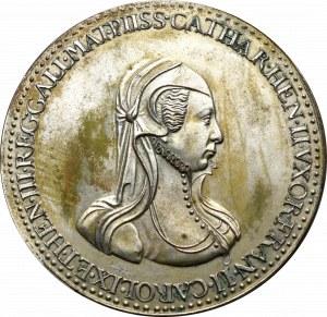 Francja, Medal 1558-1590, Katarzyna żona Henryka II - kopia galwaniczna