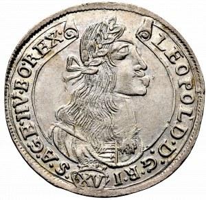 Węgry, Leopold I, 15 krajcarów 1675 KB