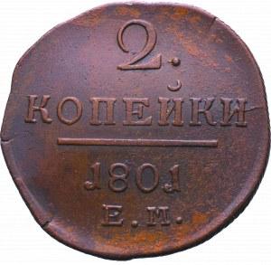 Rosja, Paweł I, 2 kopiejki 1801 EM