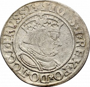 Zygmunt I Stary, Grosz dla ziem pruskich 1534, Toruń - popiersie bez czepca