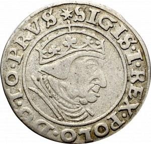 Zygmunt I Stary, Grosz 1539, Gdańsk - nieopisany GR^SSVS