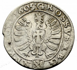 Zygmunt III Waza, Grosz 1605, Kraków - SIG III