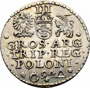 Zygmunt III Waza, Trojak 1594, Malbork - nieopisany •SIGISM•