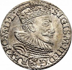 Zygmunt III Waza, Trojak 1594, Malbork - pierścień między skrótem daty