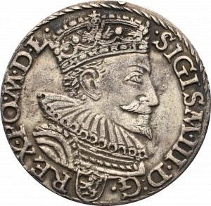Zygmunt III Waza, Trojak 1594, Malbork - nieopisany D:G•