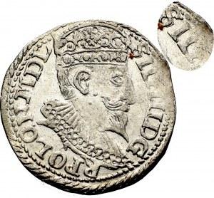 Zygmunt III Waza, Trojak 1598, Olkusz - nieopisana przebitka SII/G