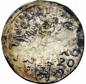 Zygmunt III Waza, Trojak 1599, Wschowa - nieopisany D G-•REX