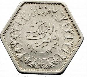 Egipt, Farouk, 2 qirsh 1944