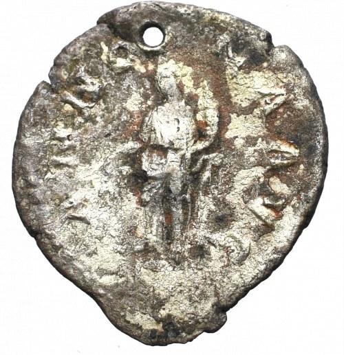 Cesarstwo Rzymskie, Aleksander Sewer, Denar - zawieszka z epoki
