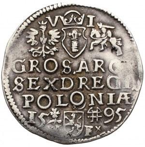 Zygmunt III Waza, Szóstak 1595, Wschowa - rzadkość, nieopisany wariant