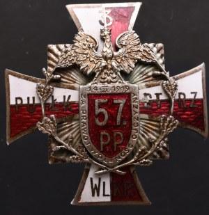 II RP, Odznaka żołnierska 57 Pułk Piechoty Poznań Zygmaniak