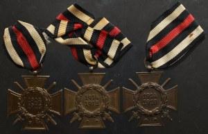 Niemcy, Zestaw Krzyży pamiątkowych za I Wojnę Światową