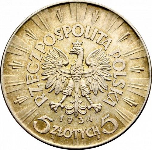 II Rzeczpospolita, 5 złotych 1934 Piłsudski