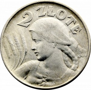II Rzeczpospolita, 2 złote 1924 Głowa kobiety (odwrotka), Filadelfia